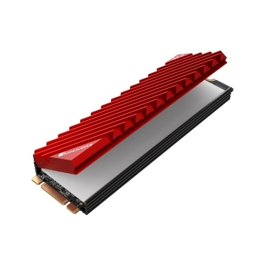 M.2-3 Radiator M.2 SSD Heat Sink Aluminum Heat Sink Tool-free Design Radiator with Thermal Pad for M.2 2280 SSD Red
