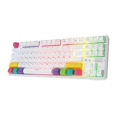 AJAZZ K870T BT&Wired Dual Mode Keyboard RGB 87 Keys Mechanical Game Keyboard