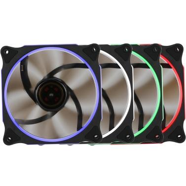 Segotep 120mm Silent Computer Gehäuse Kühler Colling Fan LED-Leuchten Hohe Luftstrom 3P + D