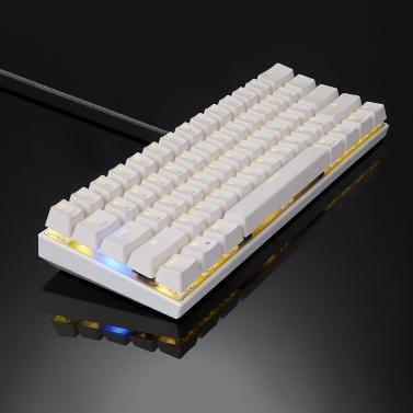 Motospeed CK62 61 Tasten RGB Mechanische Tastatur USB-Kabel BT Dual-Mode-Gaming-Tastatur Schwarz mit roten OUTEMU-Schaltern