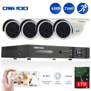 OWSOO 8ch Channel Full 1080N/720P 1500TVL AHD DVR Security System