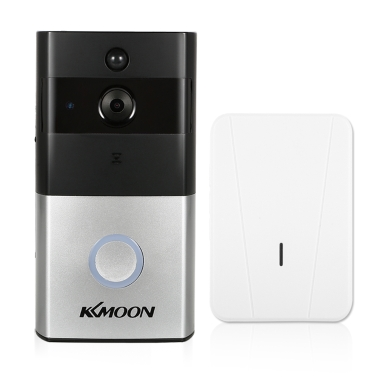 1*KKmoon 720P WiFi Visual Intercom Door Phone+1*Wireless Doorbell Chime