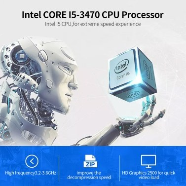 Y103 23.8 inch All-in-one Desktop Computer Intel CORE-I5-3470/Intel HD Graphics 2500/8G/240G SSD/1920*1080 for Office/Game EU Plug