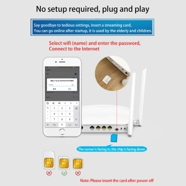 X11 4G LTE Smart WiFi Router 300Mbps High Speed Wireless Router with 4 External Antennas SIM Card Slot White Europe Version