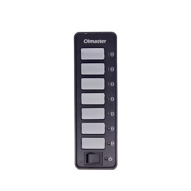 OImaster 7-Port USB 3.0 Hub Tragbarer Hub-Hub mit Netzschalter