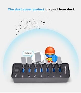 OImaster 7-Port USB 3.0 HUB Portable HUB HUB with Power Switch
