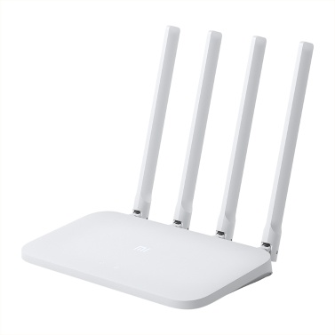 Xiaomi Wireless Router Intelligente Steuerung Hohe Geschwindigkeit Breite Abdeckung WiFi Internet Router 64 MB 300 Mbit / s mit 4 Antennen mit hoher Verstärkung für Home Office Weiß