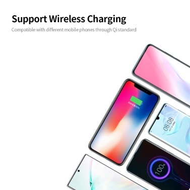 6-port USB Charger USB QC3.0 Quick Charger Wireless Charging Station for Mobile Phone Tablet EU Plug