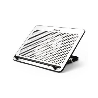 OImaster verstellbarer Laptop-Ständer Lüfterlaptop-Halter Aluminium-Wärmeableitungsplatte (Silber)