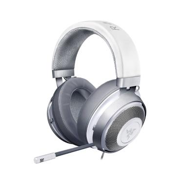Razer Kraken Gaming Headset Kopfhörer Kopfhörer 2019 Cooling-Gel Layer Retractable Noise Cancelling Mikrofon für PC, Mac, Xbox, PS4, Nintendo Switch (Silber)