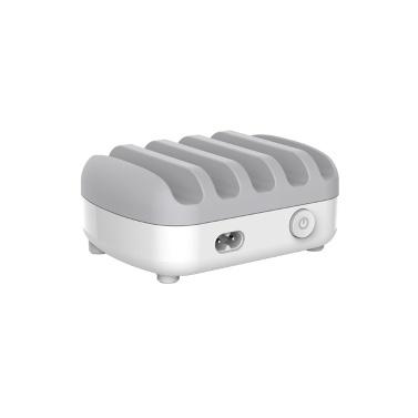 ORICO DUK-5P 5-Port USB-Ladestation Dock mit Halterung 40W 5V2.4A * 5 USB-Ladestation für Handys Laptops Weißer US-Stecker