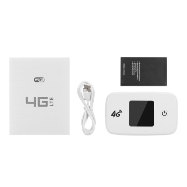 4G LTE Wireless Router Tragbarer WLAN-Router mit SIM-SD-Kartensteckplatz 1,44-Zoll-TFT-Farbbildschirm 2400-mAh-Akku EU-Version