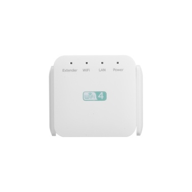 300Mbps Wireless Repeater WiFi Range Extender WiFi Signal Amplifier with Dual-antenna RJ45 Port White EU Plug