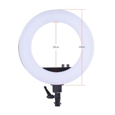 Lámpara de llenado de luz LED con anillo de video de 18 pulgadas