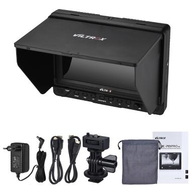 Viltrox DC-70 PRO 7 Zoll 1920 * 1200 FHD IPS Kamera Video-Feld-Monitor Unterstützung 4K HD / SDI OUT IN mit Netzteil-Kabel