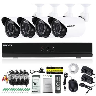 CCTV-Kamera-Sicherheitssystem KKmoon 4CH 1080P hybrides DVR
