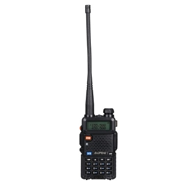 BAOFENG BF-UV5R FM Transceiver Dual Band Handheld Transceiver 128CH Amateur Portable Radio Long Standby Black