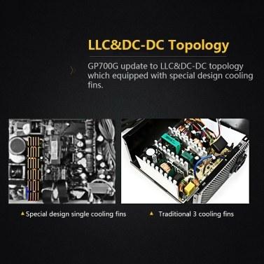 Segotep 600W GP700G PC Computer Power Supply Gaming PSU 12V Active PFC  80Plus Gold Universal AC Input 100-240V EU Plug
