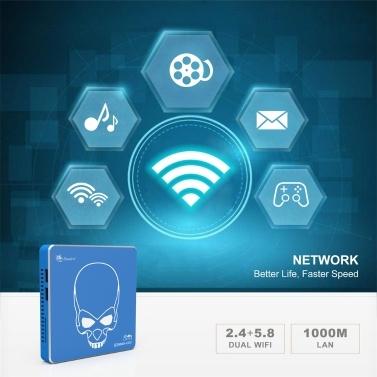 Beelink GT-King Pro Mini PC Amlogic S922X-H Processor 4GB DDR4 64GB EMMC 2.4G+5.8G Dual-band WiFi 5 Module Android 9.0 EU Plug