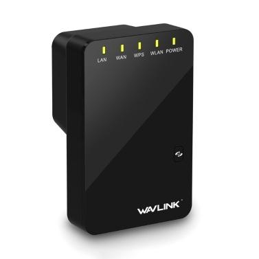wavlink WL-WN523N2 300-Mbit / s-WLAN-Repeater WLAN-Signalverstärker Mini-WLAN-Router mit zwei Netzwerkanschlüssen EU-Stecker