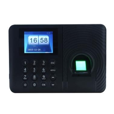 インテリジェントバイオメトリック指紋パスワード出席マシン従業員は、チェックインレコーダー2.4インチTFT LCDスクリーンのDC 5Vタイムレコーダーの時計
