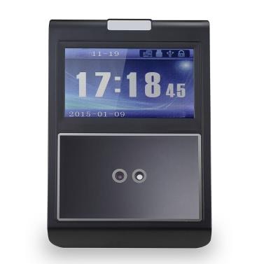 Face & Passwort-Anwesenheits-Maschine Mitarbeiter Check-in Payroll Recorder TCP / IP-4,3-Zoll-HVGA-Bildschirm DC 12V Facial Recognition Zeiterfassung Uhr