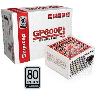 Segotep 500W GP600P ATX PC Computer Stromversorgung Desktop Gaming PSU 80Plus Platin Active PFC DC-DC 94% Wirkungsgrad Universal AC Eingang 100-240V