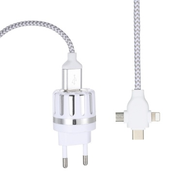 3 in 1 Charging Cable Data Cable 2A with Charging Plug