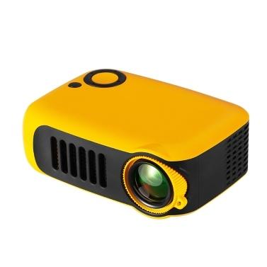 TRANSJEE A2000 Mini proyector portátil 800 lúmenes 320 * 240P Resolución nativa Compatible 1080P Proyector de video de cine en casa
