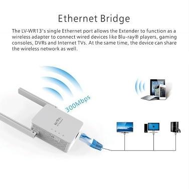 WR13 WIFI Repeater Wireless WiFi Range Extender Booster 300Mbps Router WIFI Signal Booster 2 Antennas AU Plug