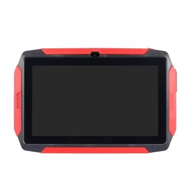 7 Zoll Kids Tablet Android 4.4 OS Lerntablett 1024 * 600 Auflösung 512 MB + 8 GB Speicher WiFi / BT-Verbindung Schwarz US-Stecker