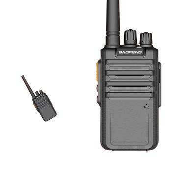 BAOFENG BF-M4 UHF-FM-Transceiver 5-W-Handheld-Interphone 400-470 MHz 16-Kanal-Funkunterstützung Lange Kommunikationsreichweite Lange Standby-Zeit Klare Stimme Walkie Talkie Schwarz EU-Stecker