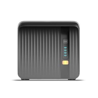 MHT P80A 80-mm-POS-Drucker Desktop-Empfang Thermodruck Automatischer Papierschnitt Wandmontage mit seriellem USB-Ethernet-LAN Kompatibel mit ESC / POS-Druckbefehlen Schwarzer EU-Stecker