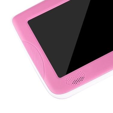 Q718 7-Zoll-Quad-Core-Tablet für Kinder 1024 * 600 Pixel Android 4.4 System 512 MB + 8 GB Speicher mit Silikonhülle Blau EU-Stecker