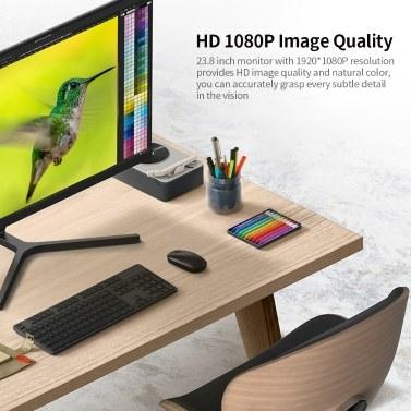 Xiaomi Monitor Redmi 1A 23.8 inch Monitor HD 1080P IPS Screen 178° Wide Angle Low Blue Light Slim Monitor EU Plug