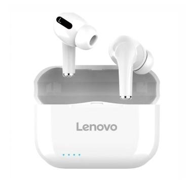 Lenovo LP1S TWS Auriculares inalámbricos BT Auriculares deportivos internos inalámbricos verdaderos IPX4 Auriculares impermeables con estuche de carga Blanco