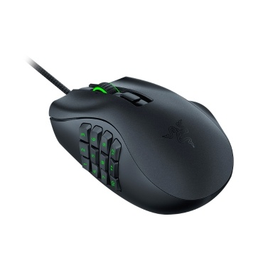 Razer Naga X MMO Wired RGB Gaming Mouse Lightweight Mouse with 2nd-gen Razer Optical Mouse Switch 16 Programmable Buttons