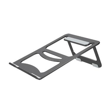 Aluminum Alloy Laptop Stand Desktop Folding Portable Silicone Non-slip Ergonomic Laptop Holder Cooling Bracket Silver