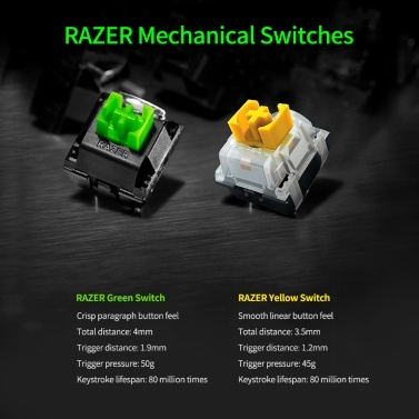 Razer BlackWidow V3 Quartz Edition Mechanical Keyboard 104 Keys Wired Gaming Keyboard with Razer Chroma RGB Effect Green Switch