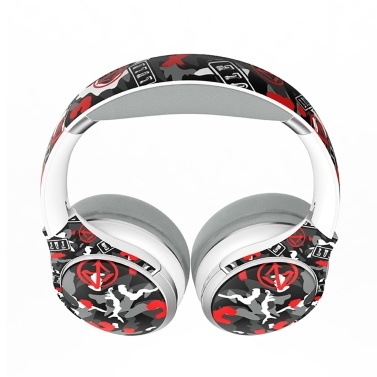 EL-A1 Wireless BT Headphone Camouflage Foldable Portable Stereo Sports Gaming TF/FM/Wired Mode Headset for Phone/Laptop/PC Black