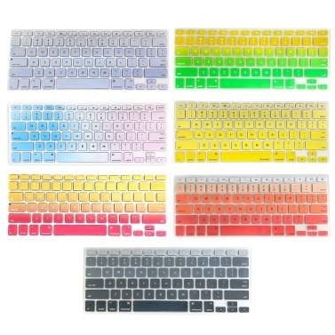 TPU Keyboard Cover Dustproof Keyboard Protective Film Compatible with Apple MacBook Air 13.3 inch A1466/A1369 Red&Yellow
