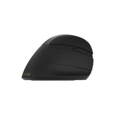 Delux M618mini Wireless Mouse Ergonomic Vertical Optical Mouse RGB Light Dual Mode Mice 2.4GHz Wireless + Bluetooth 4.0 for PC Laptop(Iron Gray)