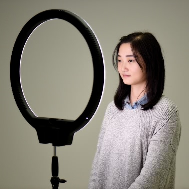YONGNUO YN608 3200K~5500K Bi-Color Temperature Frameless Brightness Ring Light Annular  with Remote Controller