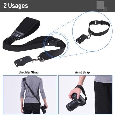 Andoer Professional Rapid Quick Release Camera Shoulder Sling Neck Wrist Strap for Canon Nikon Sony DSLR ILDC DV Outdoor Shooting