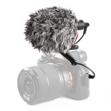 BOYA BY-MM1 Mini Microfone Cardióide Metal Eletreto Condensador Vídeo Mic