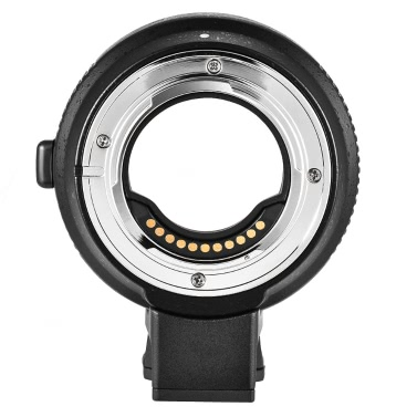 Commlite CM-AEF-MFT Lens Adapter Support AF Auto Focus IS Stabilization Exif Transmission Electronic Aperture Control EF/EF-S Lens M4/3 Camera Panasonic GH3 GH4 GX7 GF5 GF6 GX1 GM Olympus PL5 PL6 OM-D E-M5 E-M1