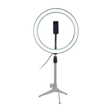 """10 """"dimmbares LED Selfie rundes Licht mit einstellbarer Lampe für die Helligkeit des Telefonclips"""