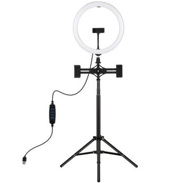 PULUZ 11,8 Zoll dimmbares LED-Fotolicht mit Stativlichtständer und Telefonhalter