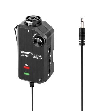 CoMica LinkFlex AD2 XLR /6.35mm-3.5mm Microphone