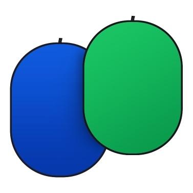1,5 x 2 * 2 m grünes und blaues 2-in-1-Studio-zusammenklappbares Hintergrundfeld